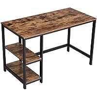 VASAGLE Vintage Schreibtisch Computertisch, PC Tisch Für Bürotisch, Mit 2  Regalebenen Auf Der