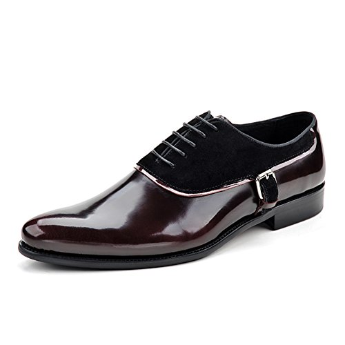 Scarpe Da Uomo Per Il Tempo Libero In Pelle Tendine Dress Autunno Business Wedding Stringate Slip On Nero Rosso