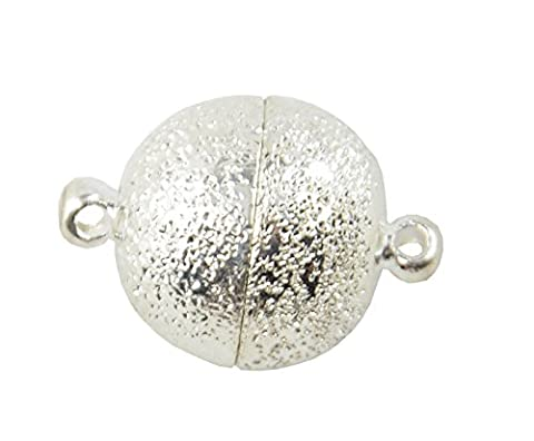 1 Large Round Magnetic Hematite Clasp Jewellery Connector catch