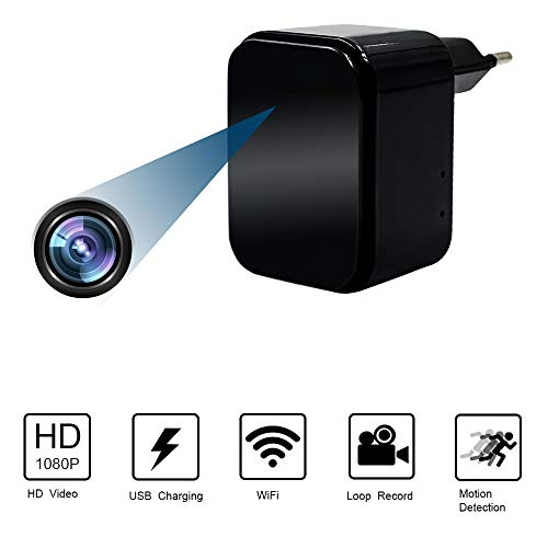 Camera Espion USB Chargeur WiFi Caméra...