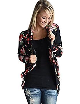 Plus Size Blouse Hiroo Women Floral Printed Irregular Long Sleeve Kimono Cardigan Casual Loose Coat Comfort Tops...