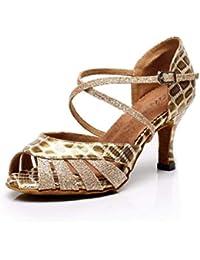 Yingsssq Scarpe da Ballo Stile Latino da Donna con Tacco Alto e  Brillantini b13aa8f4690