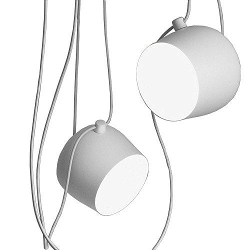 Einstellbare Kreative Persönlichkeit 1-7 Runde Eisen Kronleuchter American Bar Kleidung Shop Deckenleuchte Retro Industrial Style DIY Pendelleuchte (weiß) 18 cm (Design : 2) American Leuchter