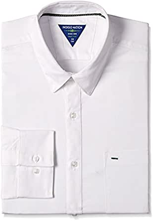 Indigo Nation Men's Formal Shirt (8907372631639_1ISE397244_44_White)