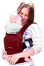 LuvLap Elite Baby Carrier with 100% Cotton Fabric, for 4 to 36 Months, Max Weight Up to 12 Kgs (Red)
