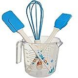 Unbekannt 4 TLG. großes Backset / Kinderküche - Disney die Eiskönigin - Frozen - Schneebesen - Backpinsel - Teigschaber - Messbecher - BPA frei - Silikon - Plätzchen - ..