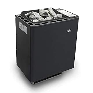 Well Solutions Klima Bio Saunaofen Bi-O Thermat 6 kW by EOS | in anthrazit-perleffekt | Made in Germany | inkl. Steine | inkl. Tropfwanne