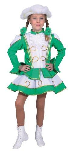 Kinder Funkenkostüm grün Funkenmariechen Garde zu Karneval (Grün Garde Kinder Kostüme)