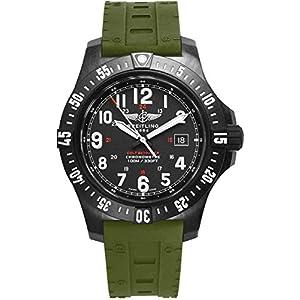 Breitling Colt SkyRacer - Reloj para hombre con correa de goma verde Skyracer X74320E4/BF87-298S 13