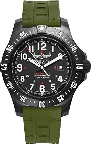 Breitling Colt SkyRacer Herren-Armbanduhr mit grünem Skyracer Kautschukband X74320E4/BF87-298S