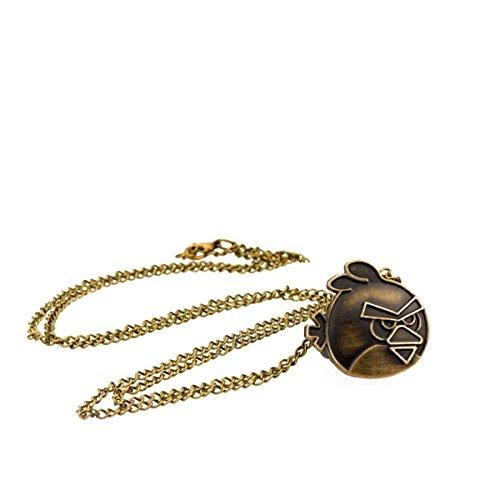 tu 62Orologio con ciondolo bagno Birds e lunga catena in oro antico aspetto, collana alla moda, di Kobert Goods