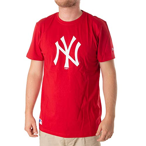 New Era - MLB New York Yankees Essential T-Shirt - Rot Größe M, Farbe Rot