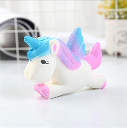 Queta Squishy Einhorn, Flügel Einhorn Kawaii Creme duftenden Squishy Charms Stress Relief Spielzeug Dekor Geschenk