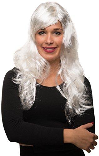 Balinco Sexy Langhaar Damen Frauen Perücke lockig / gewellt für Fasching Karneval Motto Party - 13 Farben ()