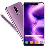 Smartphone Libres V mobile S9 5.85 Pulgada Batería 3800mAh 16GB ROM 2GB RAM Moviles Libres 3G+ Android 7 Quad Core Ofertas del Dia Dual Cámara 13MP 5MP Face ID Dual SIM GPS (Púrpura)