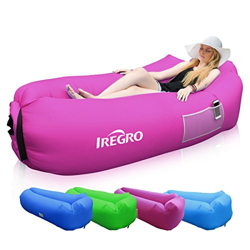 iRegro Sofa Hinchable con Almohada integrada y Bolsa, Sofa Inflable, p