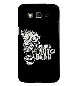 FUSON Punk Not Dead 3D Hard Polycarbonate Designer Back Case Cover for Samsung Galaxy A8 (2015) :: Samsung Galaxy A8 Duos (2015) :: Samsung Galaxy A8 A800F A800Y