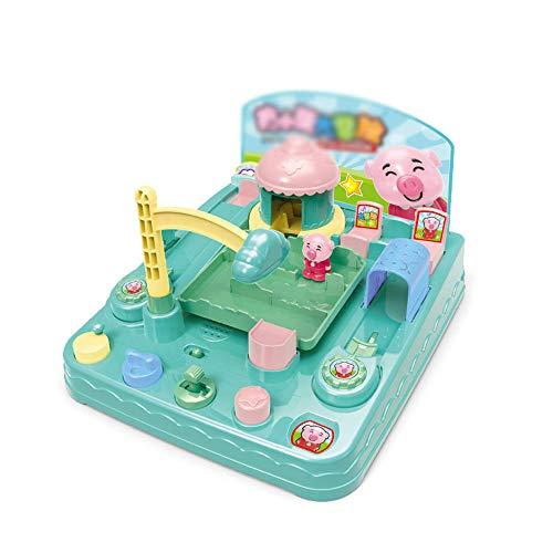 Zhongsufei Kleinkinder Lernspielzeug Großes Abenteuer kreative pädagogische Rekrut Hand elektrische Taste Spielzeug Levels Pig Boy und Girl Spaß pädagogisches Spielzeug