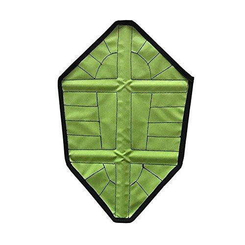 Kegelschuhe von Aolvo drinnen, automatische Instant Schuh abdeckt, wiederverwendbar grün