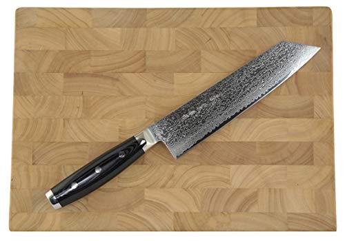 Yaxell Gou 101 Damastmesser-Set Kiritsuke-Kochmesser - Schnittkern aus Pulverstahl 63HRC + Schneidbrett