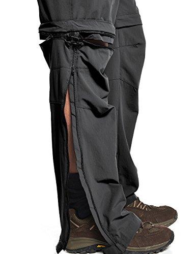 MAIER SPORTS T-Zipp-off Funktionshose Tajo aus 90% PA 10% EL in 26 Größen, Outdoorhose/ Wanderhose/ Bermuda inkl. Gürtel, bi-elastisch, schnelltrocknend und wasserabweisend Black