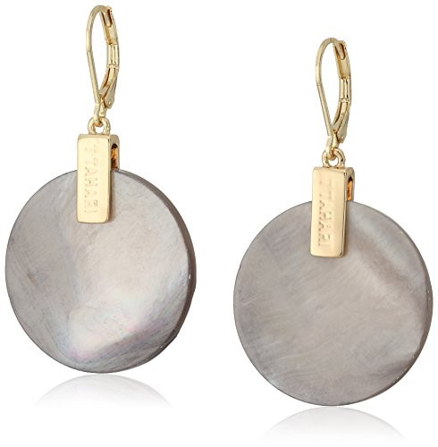 t-tahari-gold-shell-round-drop-earrings