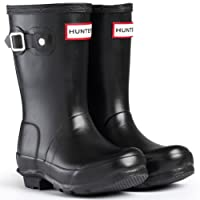 HUNTER Womens Wellington Boots Original Kids RAIN Snow Wellies Ladies UK 10-2 Blacks
