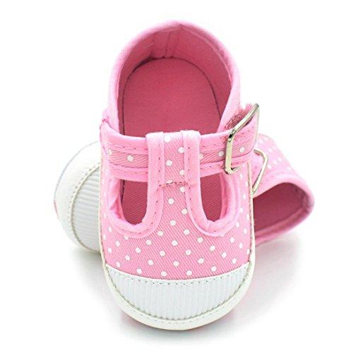 Babyschuhe Longra Art und Weise Säugling Neugeborenes Baby-Kind-weiche alleinige Leinwand Schuh-Turnschuh Krippeschuhe (0 ~ 12 Monate) Pink