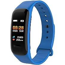 Monitor de Actividad física y Ritmo cardíaco de presión Arterial, Impermeable, para Mujeres,