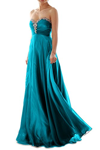 MACloth - Robe - Plissée - Sans Manche - Femme Bleu - Bleu-vert