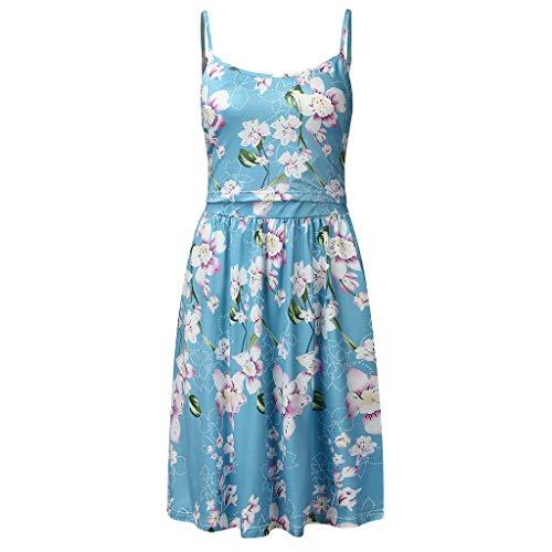 Petite Cowl Neck (MCYs Umstands Kleid Still Kleid Frauen Mutterschaft Nursing Pregnanty O-Neck Sleeveless Sling Print Blumenkleid)