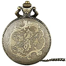 Beautiful Watches , Unisex Pocket Watch Queen Mother And Son Duo Bronzer Flip Shiying Huai Table Cool Watches Unique Watches