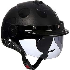 Generic Unbranded Format Dzire Open Face Helmet (Black, Medium)