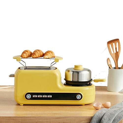 JIAXIAO Ship Vollautomatischer Toaster, 2 in 3 Stück mit Einer kleinen Pfanne, Großes Multifunktionsbrot für zu Hause, für Bagels, Spezialbrote und anderes Gebäck