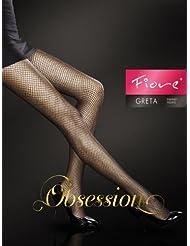 Fiore Feinstrumpfhose Greta / Obsession, Medias Para Mujer, Red, Negro
