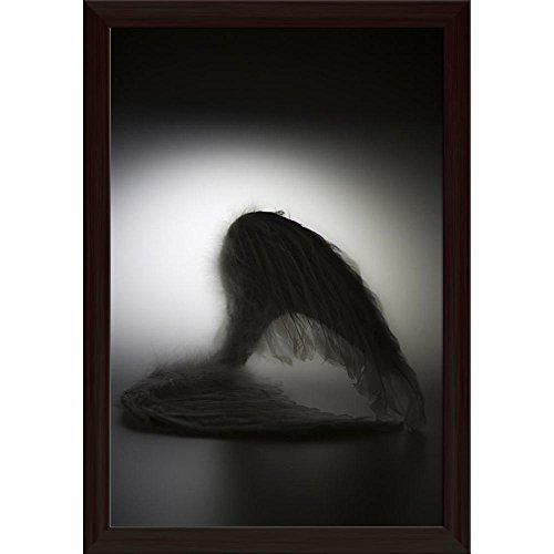 Pitaara Box Angels Wings Canvas Painting Dark Brown Frame 16 X 23.5Inch