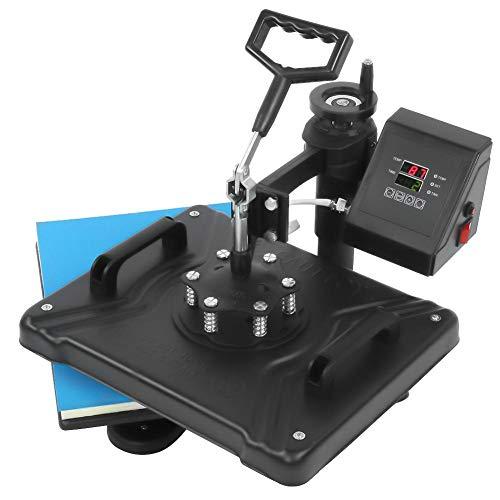 Caredy Transferpresse Tassenpresse Textilpresse - 11.4 '' * 15 '' Multifunktions T Shirtpresse Heat Press Machine 5 in 1 Sublimation Becher T-Shirt Platte Kappe Hut Heat Press Machine(EU)