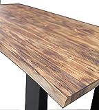 Ambientehome Baumkantentisch Esszimmertisch 150x80x75 cm aus Teakholz mit Baumkante, Tisch mit schwarz lackierten Beinen, Baumtisch mit naturbelassener Optik