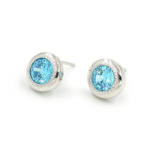plata-de-ley-8-mm-luz-redonda-azul-circonita-plata-tono-stud-pendientes
