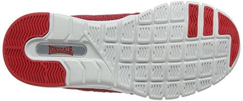 Lonsdale Sivas, Chaussures de Running Compétition Mixte Enfant Grey (Charcoal/Red)