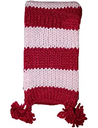 Girls Striped Cable Knit Scarf GL177