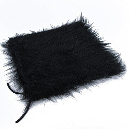 edealing (TM) Hundekostüm Löwe Mähne Perücke für große Hunde Cat Fancy Dress Up Halloween Festival-Kleidung kann einstellbar sein (schwarz)