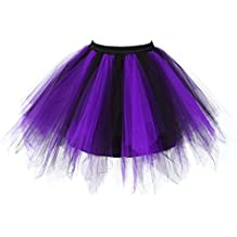 Changuan Vintage Short Petticoat Skirt Ballet Bubble Tutu Multi-Colored Pettiskirt