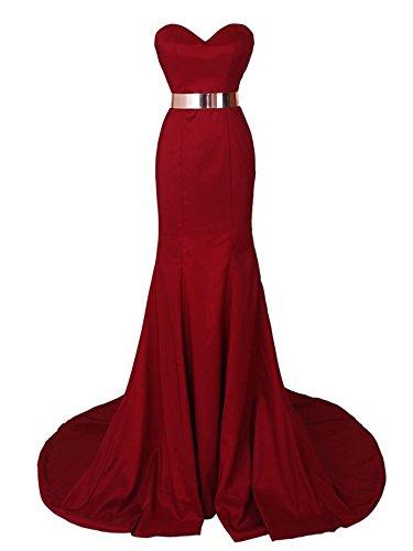 Ikerenwedding - Robe - Mermaid - Femme red