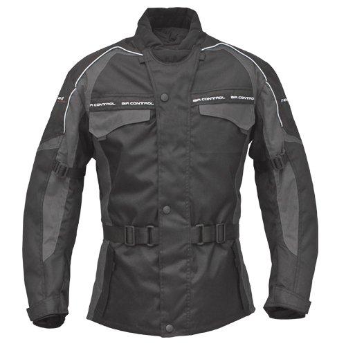 Preisvergleich Produktbild ROLEFF RACEWEAR Motorradjacke Reno RO 70i, schwarz/grau, L, 7014