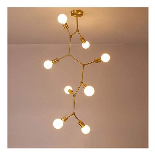 hter 8-Lampen-LED-kreative einfache Messing Arm für Prom Korridor Anhänger Dekor (Farbe: A) ()
