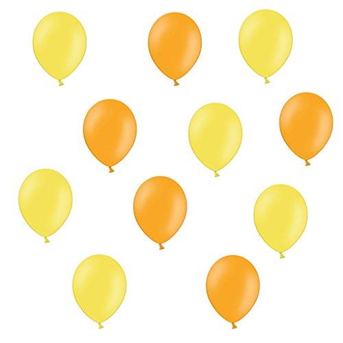 25 Gelb und Orange - ca. Ø 28cm - 50 Stück - Ballons als Deko, Party, Fest - Farbe Gelb und Orange - für Helium geeignet - twist4® (Orange Und Gelb)