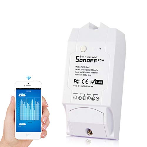 Sonoff Pow R2 Drahtlose WiFi Schalter wifi smart switch for alexa ON/Off 16A Mit Echtzeit Stromverbrauch Messung Haushaltsgerät IOS Android fernbedienung 3500w