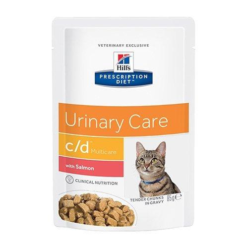 Hill's Pr Diet Feline c/d Ur Stress Salmon 12x85 g pouches (C Hills D Katzenfutter)