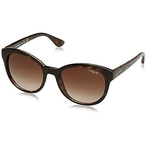 Vogue Damen Sonnenbrille VO2843S W65613, Schwarz (Dark Havana W65613), One size (Herstellergröße: 56)